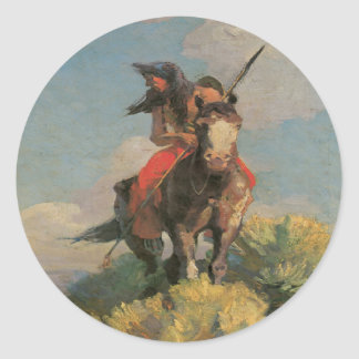 Native American Indian Wild Crow 1896 Stickers