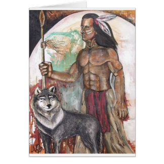 Native American Indian & Wolf Cards