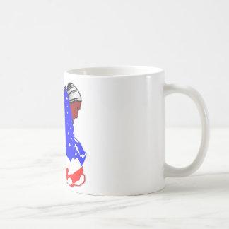 Native American Indian Wrapped In American Flag Coffee Mug