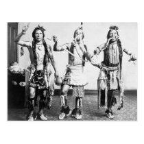 Native American Indians performing a snake dance Postcard