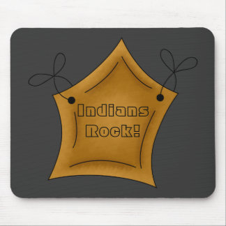 Native American Indians Rock Star Mousepad