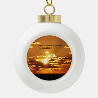 Native American Inspirational quotes Ceramic Ball Christmas Ornament