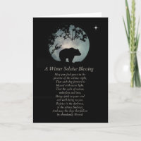 Native American Inspired Winter Solstice Blessings Card