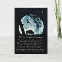 Native American Inspired Winter Solstice Buffalo Card