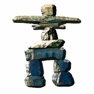 Native American Inuit Inukshuk Sculpted Gift Photo Sculpture Keychain