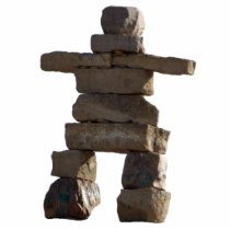 Native American Inuit Inukshuk Sculpted Gift Statuette