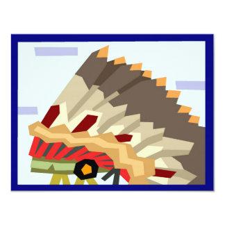 Native American invitation card
