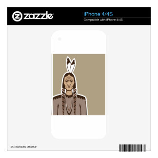 Native American iPhone 4S Skin