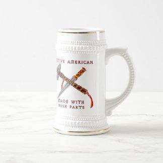 Native American/Irish 18 Oz Beer Stein