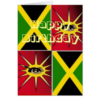 Native american-Jamaican Greeting Card