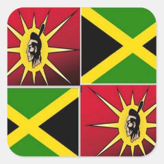 Native american-Jamaican Square Sticker