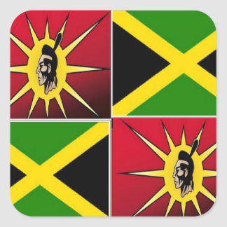 Native american-Jamaican Stickers