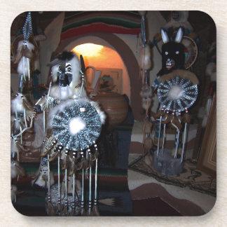Native American Kachina Dolls Drink Coaster