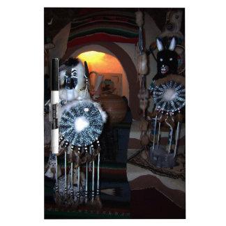 Native American Kachina Dolls Dry Erase Board