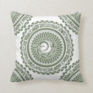 Native American Madala Lizard Pattern Throw Pillow