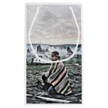 Native American man meditating under first snow Small Gift Bag