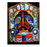 Native American Mask Postcard