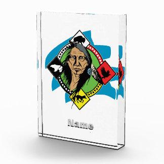 Native American Medicine Wheel Acrylic Award