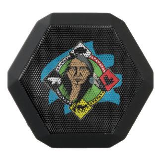 Native American Medicine Wheel Black Bluetooth Speaker