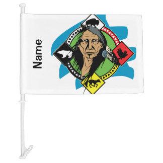 Native American Medicine Wheel Car Flag