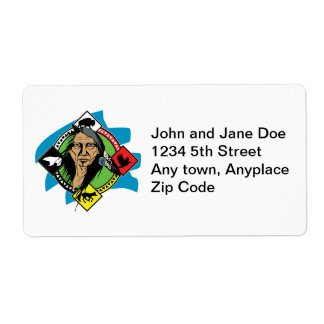 Native American Medicine Wheel Label