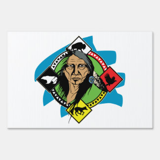 Native American Medicine Wheel Lawn Sign