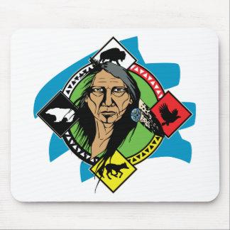 Native American Medicine Wheel Mousepads