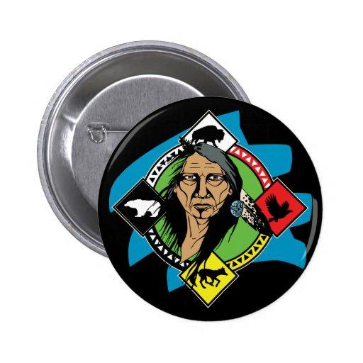 Native American Medicine Wheel Pins