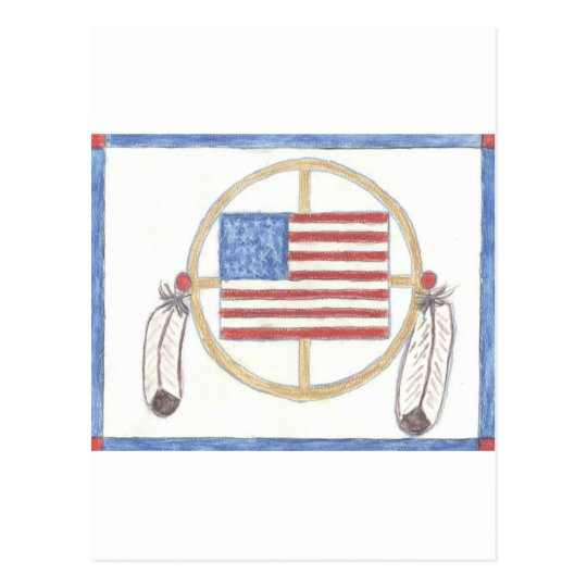 Native American Medicine Wheel Postcard