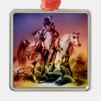 Native American Metal Ornament