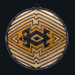 "Native American Mimbres Bear Dart Board<br><div class=""desc"">Tribal decor inspired by ancient Mimbres pottery found in the Southwest.  Designed by Virginia Vivier,  Witches Hammer shop.</div>"