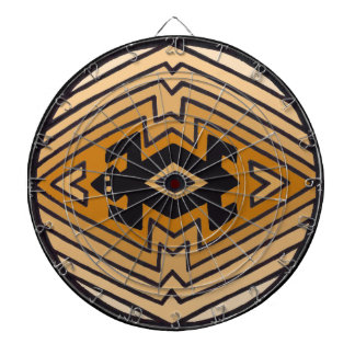 Native American Mimbres Bear Dart Board