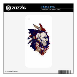 Native American Mohawk iPhone 4S Decal