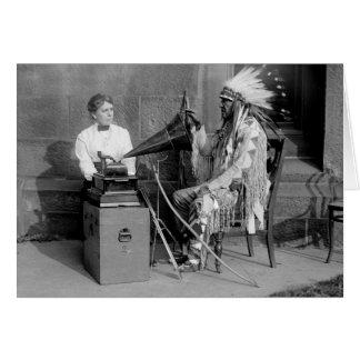 Native American Music 1915 Card