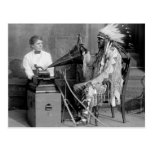 Native American Music, 1915 Postcard