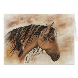 Native American Mustang Horse ArT by BiHrLe Card