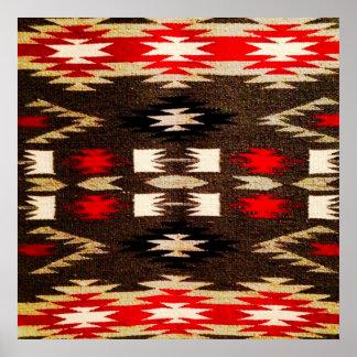 Native American Navajo Tribal Design Print