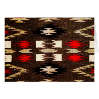 Native American Navajo Tribal Design Print Card