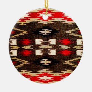 Native American Navajo Tribal Design Print Ceramic Ornament
