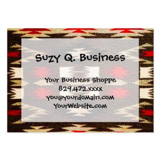 Native American Navajo Tribal Design Print Large Business Card