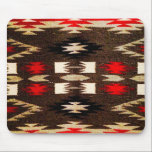 "Native American Navajo Tribal Design Print Mouse Pad<br><div class=""desc"">Native American Navajo Tribal Design Print in a southwestern red and brown color sheme.  This is just a printed design,  it is not actually woven.</div>"