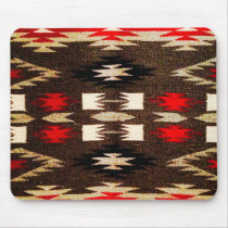 Native American Navajo Tribal Design Print Mouse Pad