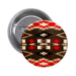 Native American Navajo Tribal Design Print Pinback Button
