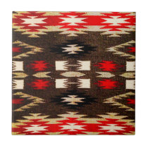 Native American Navajo Tribal Design Print Tile