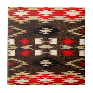 Native American Navajo Tribal Design Print Tile