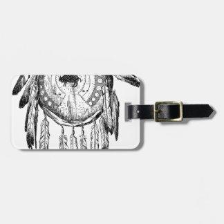 Native American Ornament Bag Tag