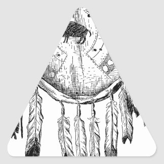 Native American Ornament Triangle Sticker