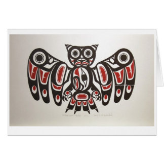 Native American Pacific NW Owl Design Note Card