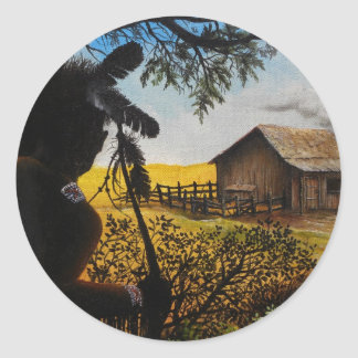 Native American Painting Classic Round Sticker
