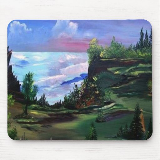 Native American Painting  THOUGHT Mouse Pad